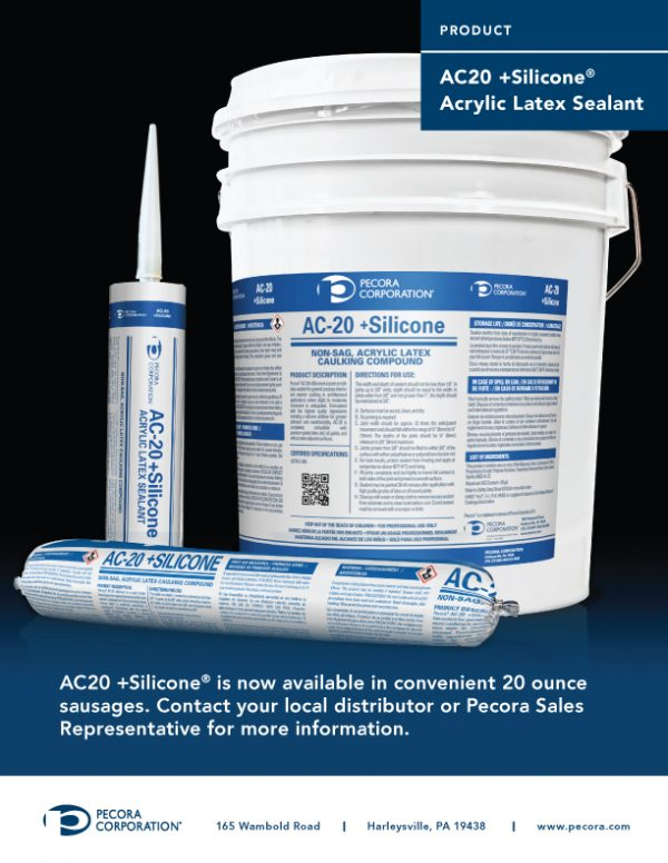 Pecora AC-20 Interior Exterior Latex Caulk