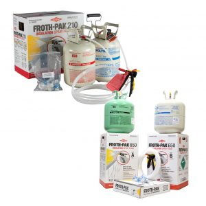 Dow Froth-Pak Spray Foam Two-Part Kits