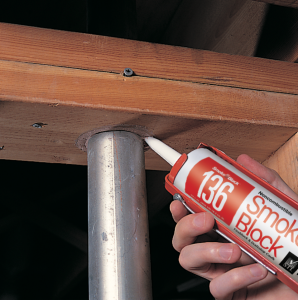 Smoke Blcok 136 firestop caulk application