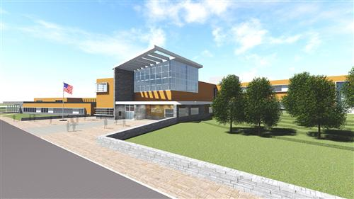 Minuteman Vocational School project rendering - Lexington MA